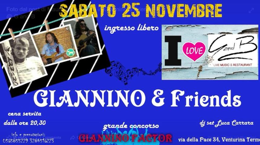 SABATO 25/11 – GIANNINO&FRIENDS
